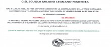 Organizzazione appuntamenti CISL Scuola Milano